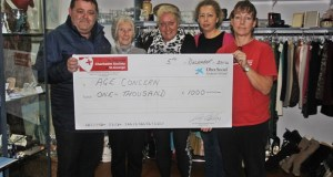 Saint George Charity present cheque to Age Concern
