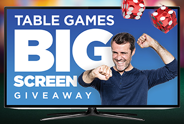 Table Games Big Screen TV Giveaway