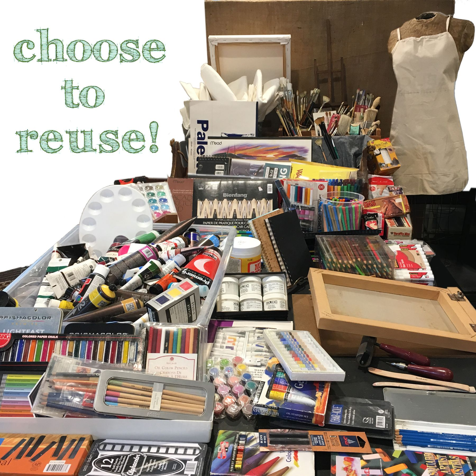 Read more about the article Expanded Reclaimed Art and Craft Supply Section!