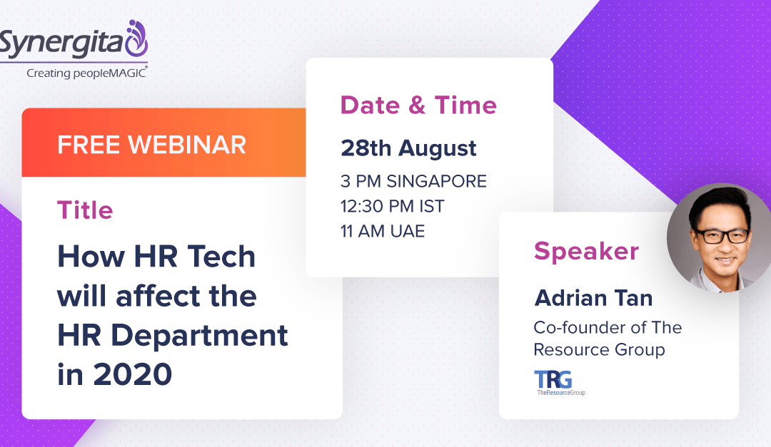 "Free Webinar: ""How HR Tech will affect the HR Department in 2020?"""