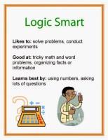 Multiple Intelligence logic smart printable poster