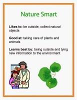 Multiple Intelligence Nature Smart printable poster