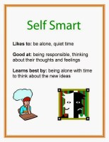 Multiple Intelligence Self Smart printable poster