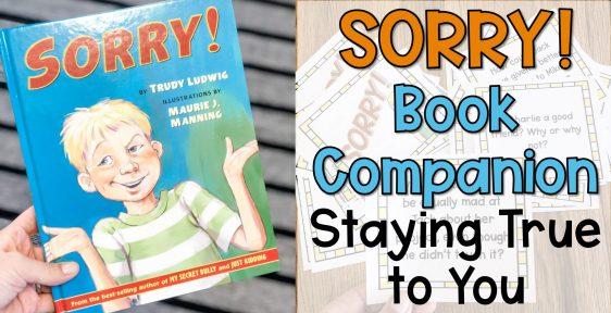 sorry book companion lesson