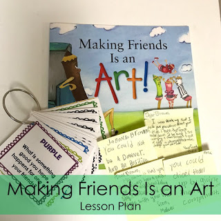 School counselor lesson plan: Making Friends