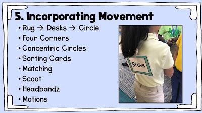 incorporating movement slide