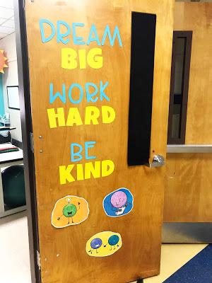 school counseling office door art