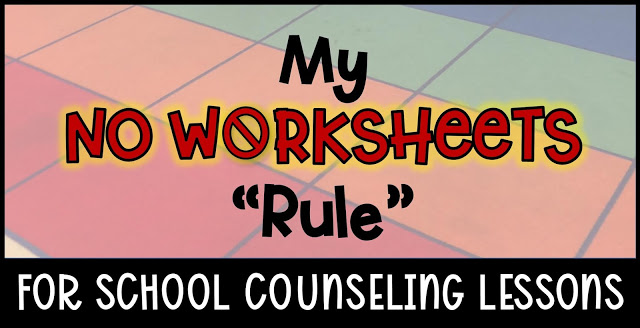 school counseling lessons no worksheets