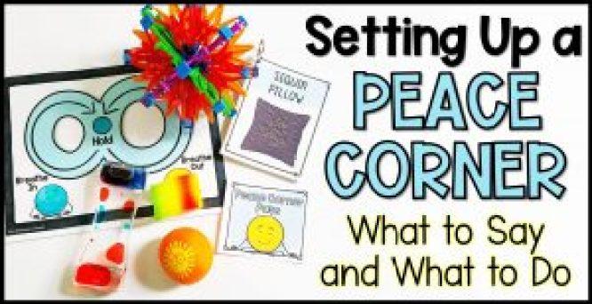 setting up a calm corner peace corner