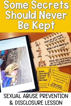 some secrets should never be kept activity for sexual abuse prevention and disclosure lesson