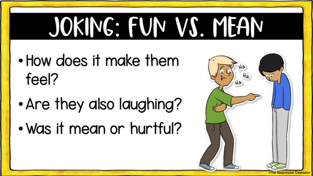 joking fun vs mean how does it make them feel