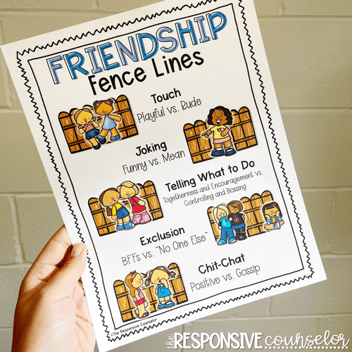friendship fence lines describing touch joking telling what to do exclusion and chit-chat