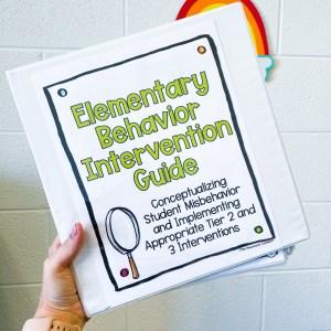 elementary behavior intervention guide
