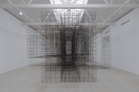 "Antony Gormley, 'Matrix II', metal sculpture from the exhibition ""Second Body"" at Galerie Thaddeus Ropac, Paris."