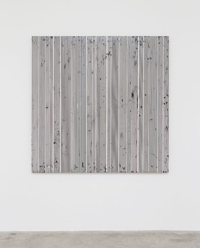 Michael Scott, '#98', 2012, black gloss enamel on aluminum, 63 x 63 inches.