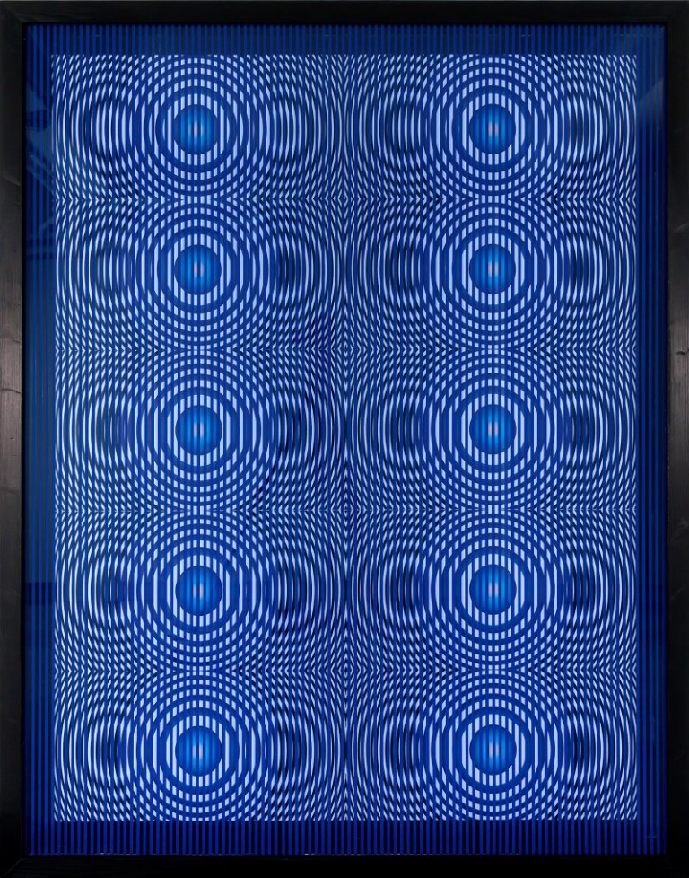 Alberto Biasi, 'Gocce', 2002, mixed media, painting, PVC on plexiglass, 69 2/3 x 54 1/3 in. (177 x 138 cm).