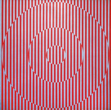 Rakuko Naito, 'RN1468-64', 1964, Acrylic and metallic acrylic on linen, 68 x 68 in (173 x 172 cm).