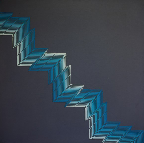 Rino Sernaglia, 'Modulazione di Superficie', 1981, acrylic on canvas, 80 x 80 cm.