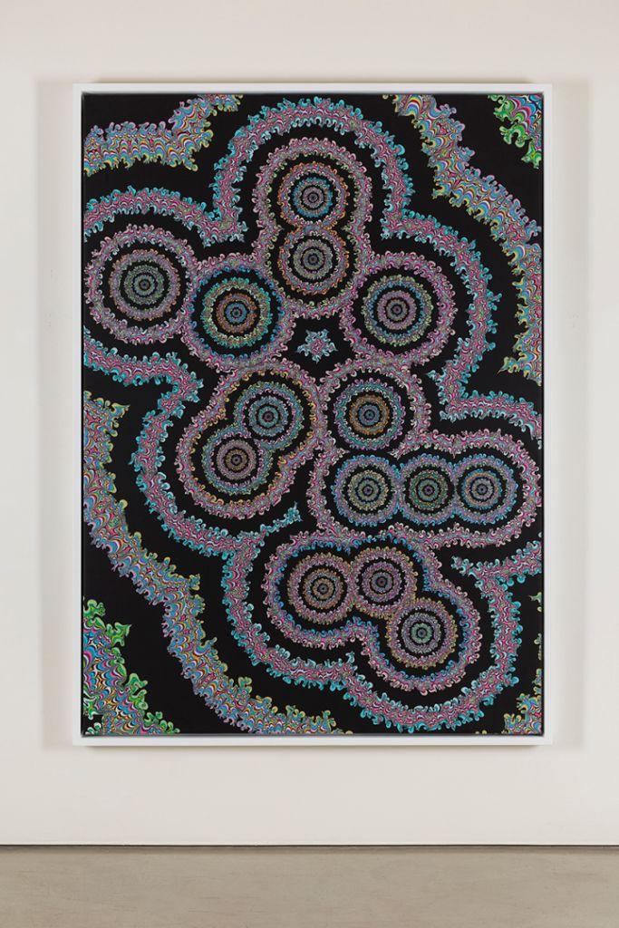 Kelsey Brookes, 'Muscimol', 2015, acrylic on canvas, 87 x 63 in.