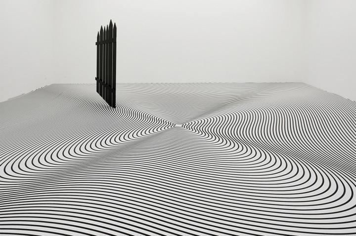 Philippe Decrauzat, 'One Two Three Four Five + Can I Crash Here', 2005. © Blaise Adilon.
