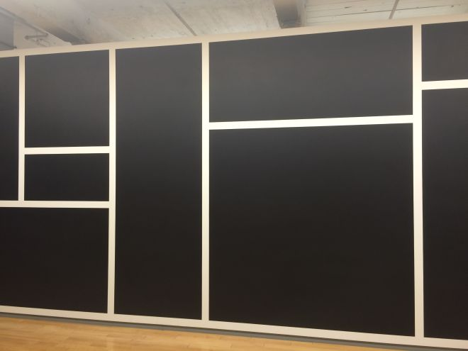 Sol Leitt,Wall Drawing 792 Black rectangles and squares.June 1995 Dispersion paint Courtesy of the Estate of Sol LeWitt
