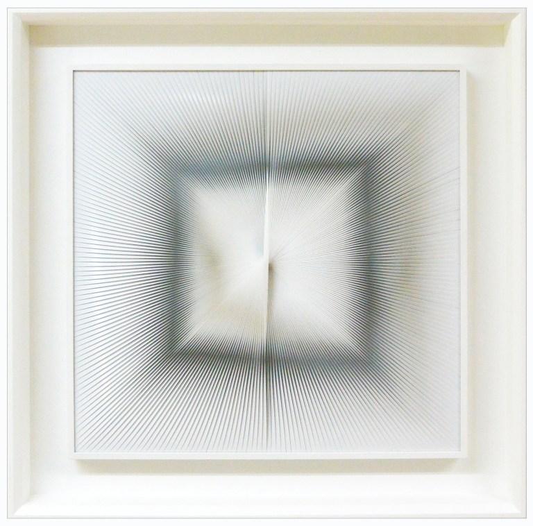 10-Dinamica Quadrata, 2007, PVC relief and acrylic on panel, 60 x 60 cm. -  23,6 x 23,6 in