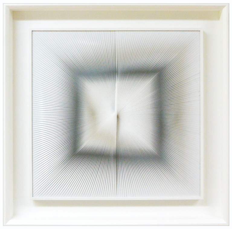 10-Dinamica Quadrata, 2007, PVC relief and acrylic on panel, 60 x 60 cm. -  23,6 x 23,6 in