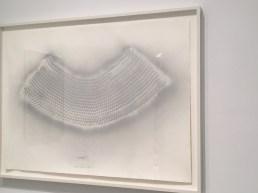 "Heinz Mack ""Vogel-Traum-Flug (Bird-Dream-Flight)"", 1963, silver spray on paper, 30 3/4 X 42 1/2 in."
