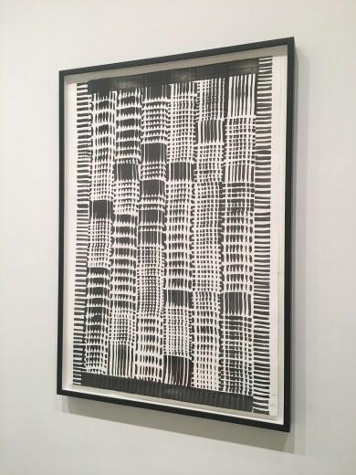 """Heinz Mack """"Ohne Titel"""", 2015, ink on handmade paper, 44 x 30 in."""