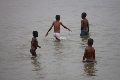 Boys in Lake Tanganyika