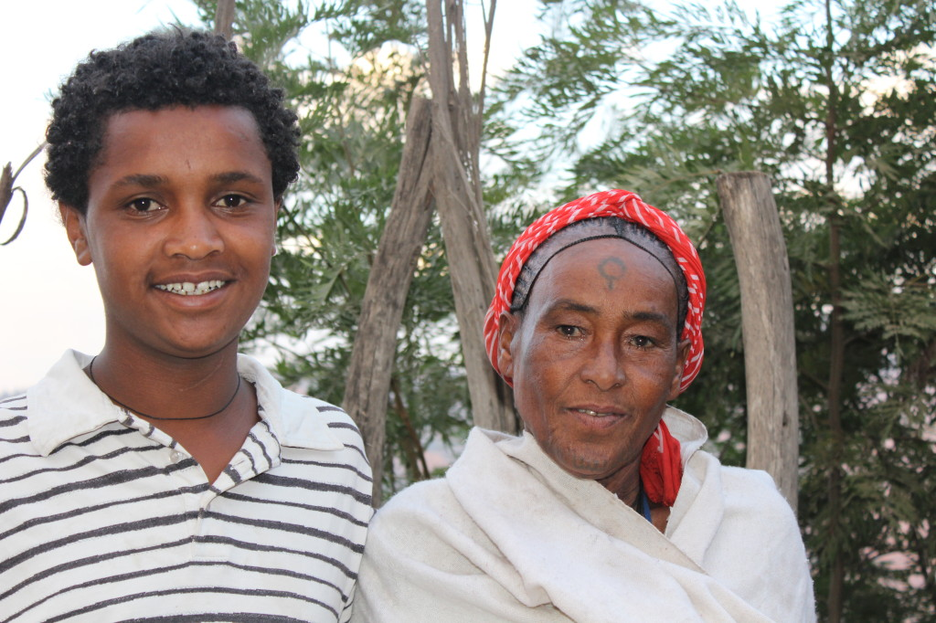 Tedy and his Aunt in Lalibela