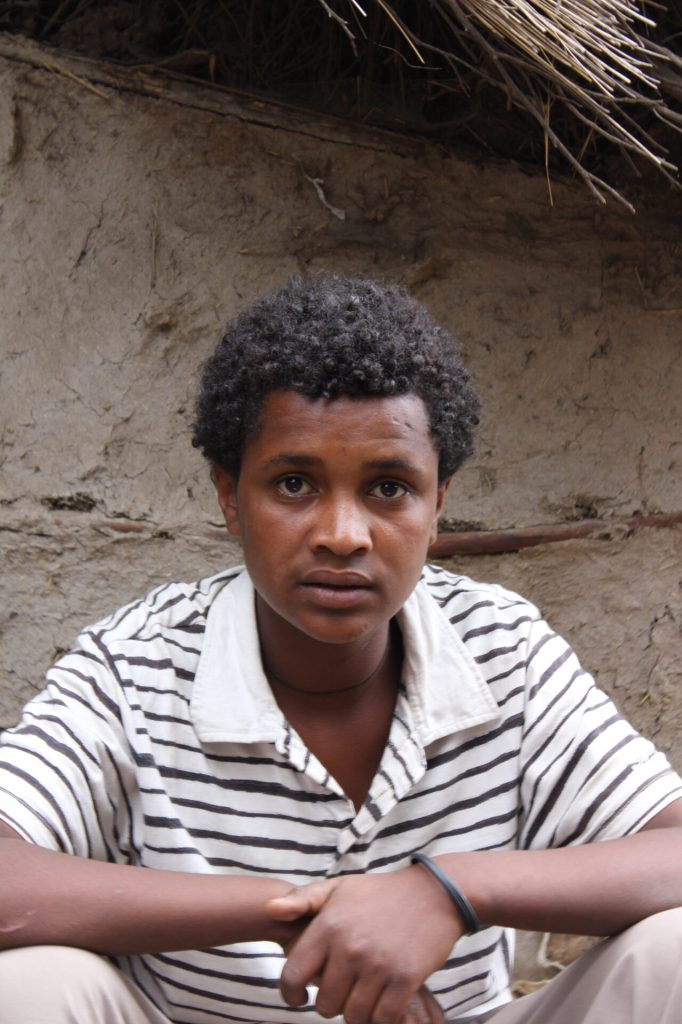 Tedy in his village