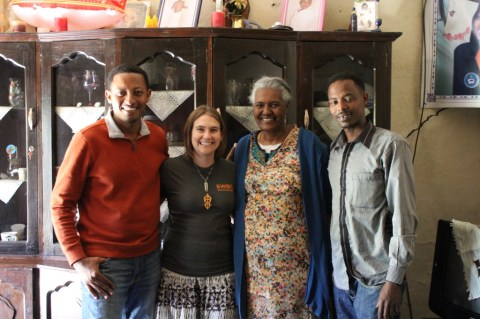 My cousins and me in Addis