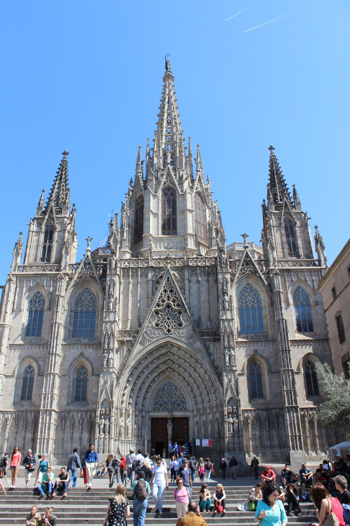 Barcelona Gothic Quarter - Cathedral of the Holy Cross and Saint Eulalia