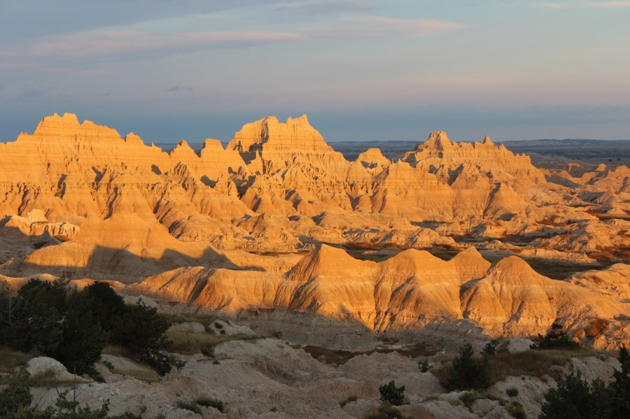 Badlands Sunset and Sky