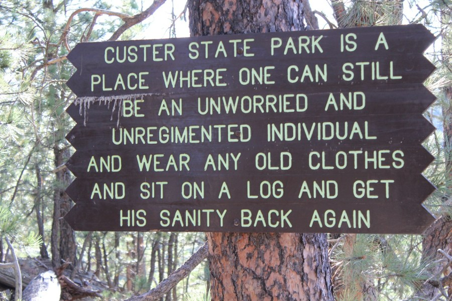 Lover's Leap Sign at Custer State Park