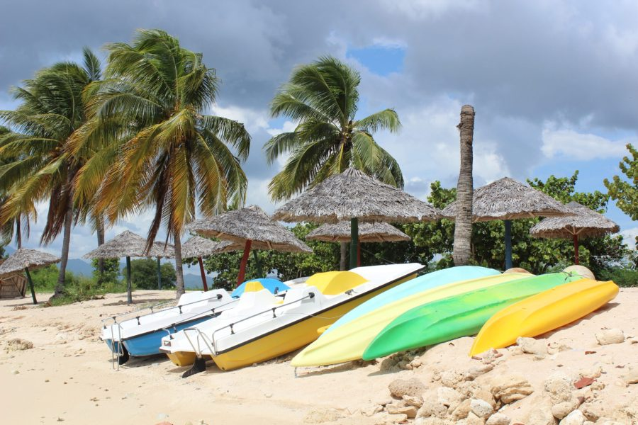 Kayaks at Playa Ancon