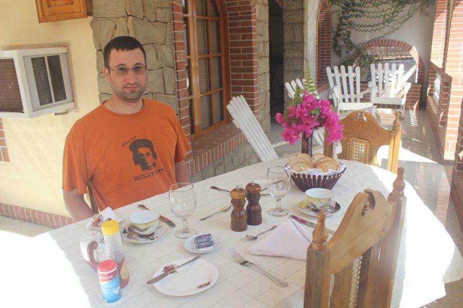 David at Hostal Cuba's desayuno