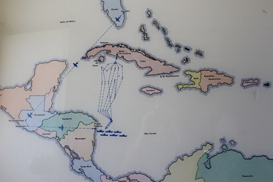 Bahía de Cochinos maps during the invasion