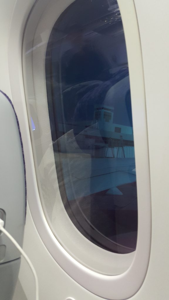 Tinted windows while flying to Rio