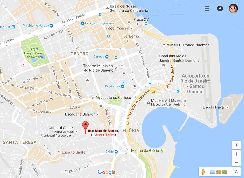 Exploring Santa Teresa - Map