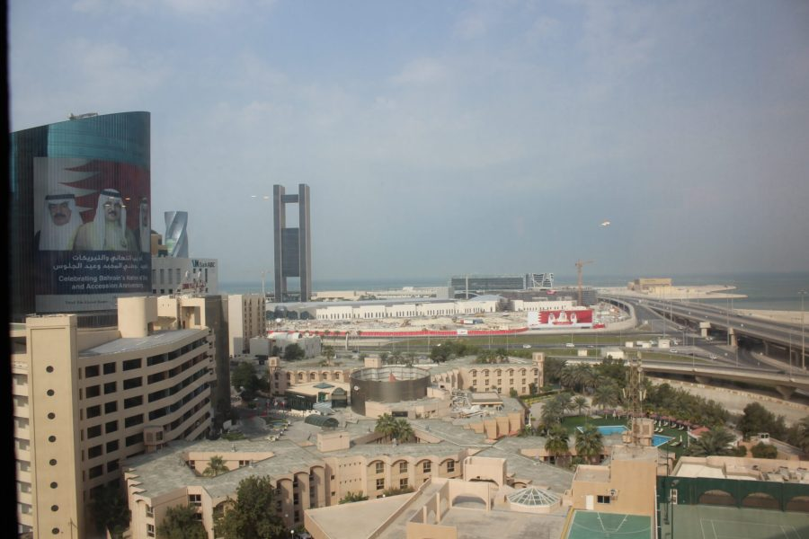 Arriving in Bahrain - Manama city view