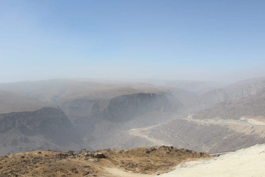 South of Salalah - zig zag mountain road