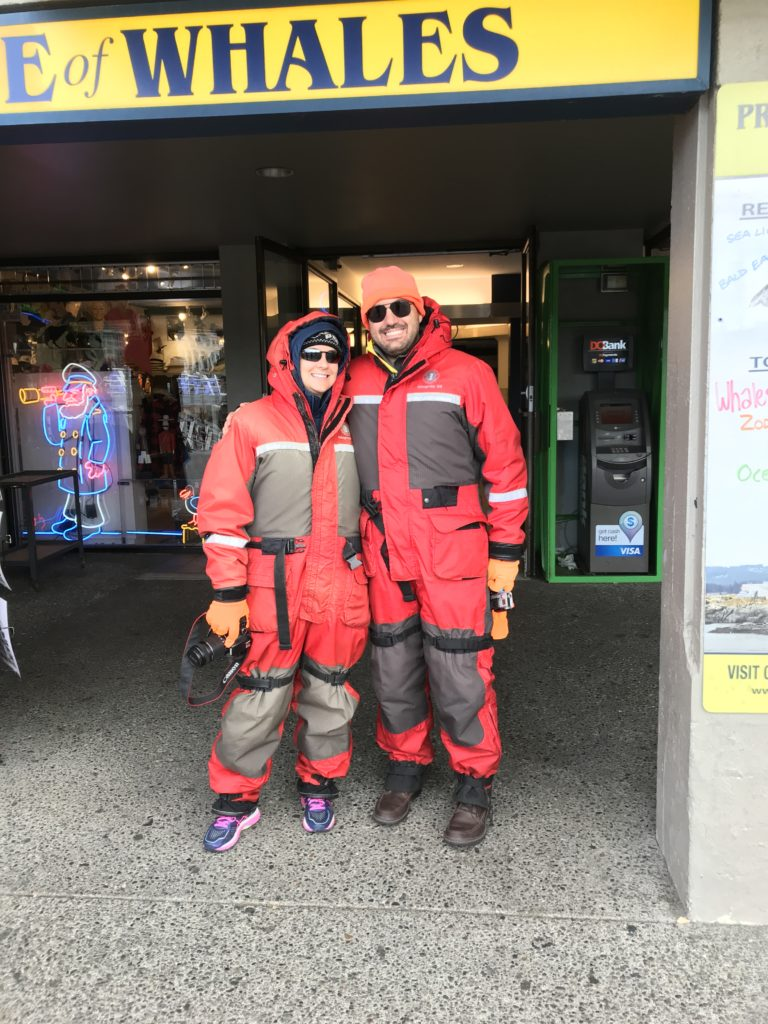 Geared up for Victoria whale watching adventure