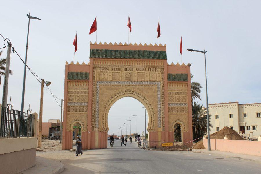Rissani gate beginning our Sahara engagement