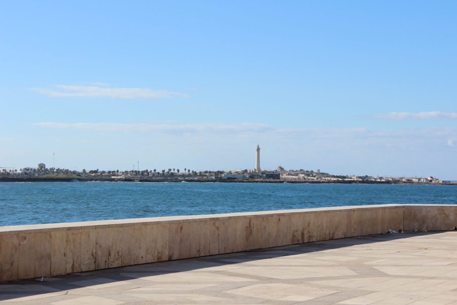 View of the Casablanca corniche from across the bay