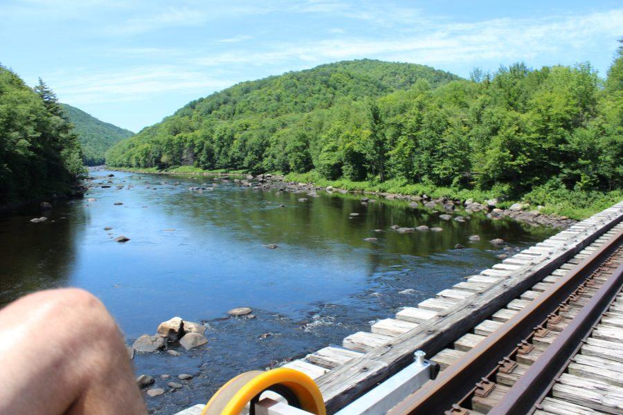 Rail biking the Adirondacks