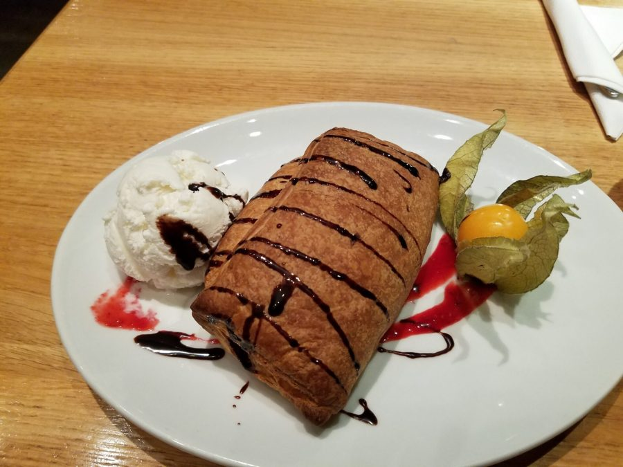 Apple strudel at Burga in Riga