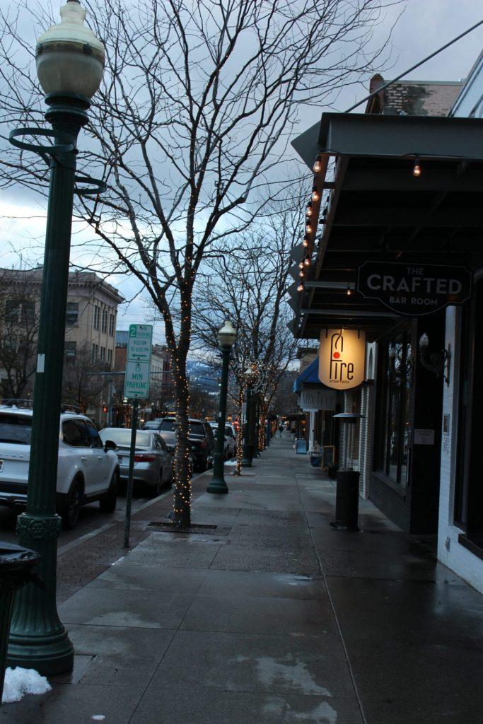 Coeur d'Alene winter getaway - main street (Sherman Street)