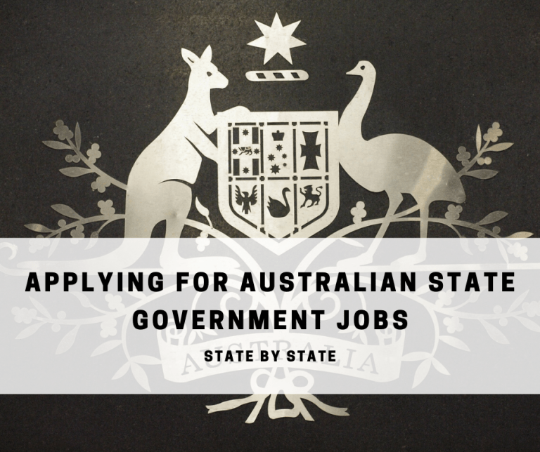 applyinf for australian state government jobs